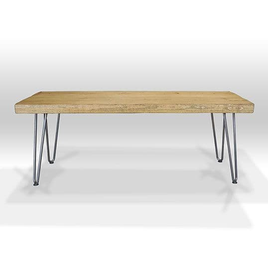 Bowes Rustic Wooden TV Stand with Hairpin Legs